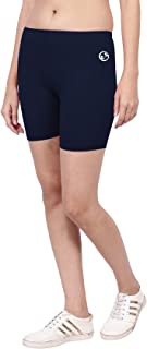 SHELLOCKS Cotton Lycra Cycling Shorts for Women