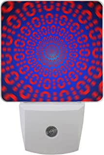 Night Light Binary Code Optical Creative with Dusk-to-Dawn Sensor for Bedroom, Bathroom, Kitchen, Hallway, Stairs LED