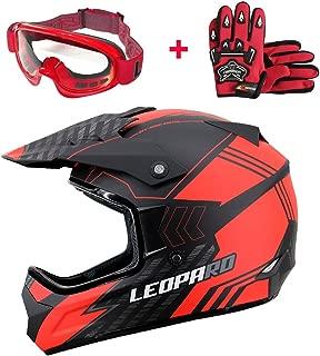 59-60cm Leopard LEOX307 Moto Cross Integrale Donna e Uomo Omologato ECE Nero Opaco//Blu L