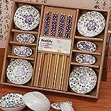 Dätenky Set de sushi de cerámica, juego de vajilla para sushi para cuatro...
