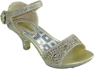 IINFINE Girls Low Heels Princess Mary Jane Shoes