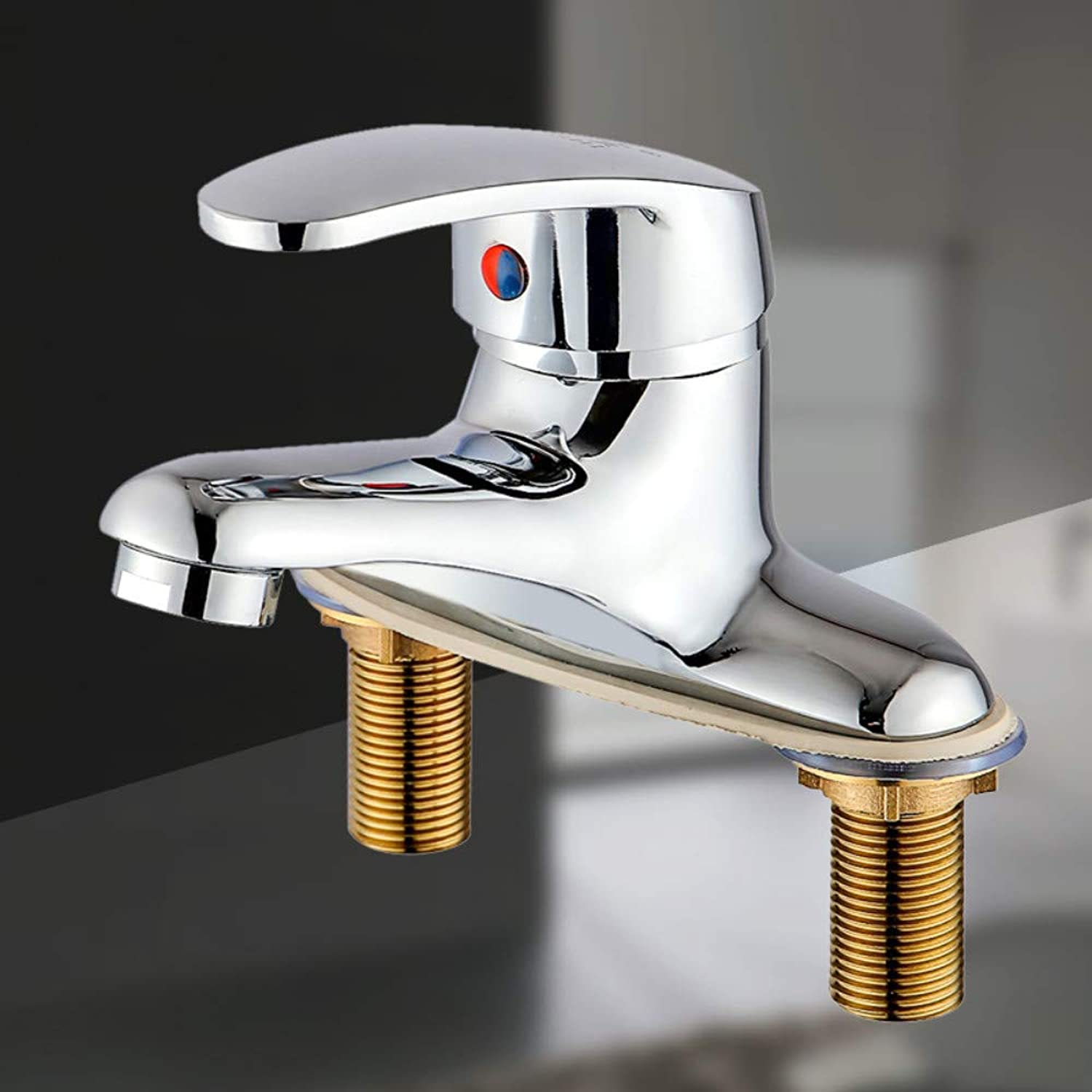 Kitchen Sink Tapbathroom Sink Tap hot And Cold Copper Double Hole Washbasin Washbasin Faucet