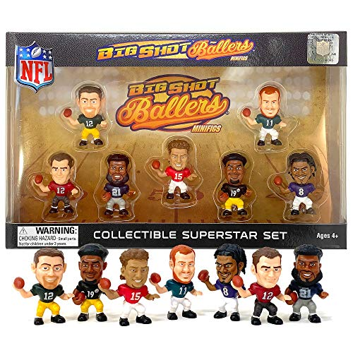 Party Animal 2020 - 2021 Big Shot Ballers MiniFig NFL Series 1 Gift Set Player Mini Figures Collector Box 7 Players