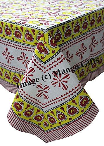 Main Bloc Imprimé indien Nappe Housse 100% coton Floral 150*220 cm