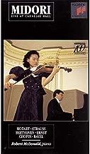 Midori: Live at Carnegie Hall Mozart, Strauss, Beethoven, Ernst, Chopin, Ravel  VHS