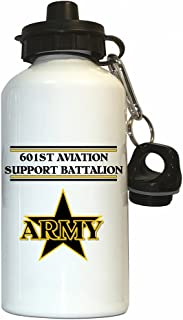 601st Aviation Support Battalion - US Army Water Bottle White