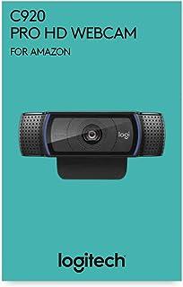Logitech C920 HD Pro Webcam Videoconferencias 1080P FULL HD 1080p/30 fps Sonido Estéreo Corrección de Iluminación HD Skype/Google Hangouts/FaceTime Para Gaming Portátil/PC/Mac/Android Negro