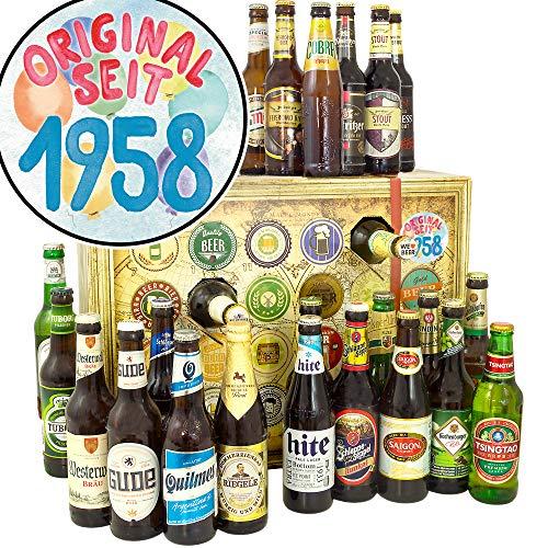 Original seit 1958 + Bier Adventskalender mit Bieren der Welt und Deutschland + 24x Bier DE und Welt