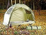 Semptec Urban Survival Technology Zeltliege: 4in1-Zelt mit Feldbett, Sommer-Schlafsack und Matratze (Liege mit Zelt) - 4