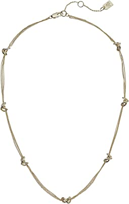 "Classic Metal Knots 17"" Station Necklace"
