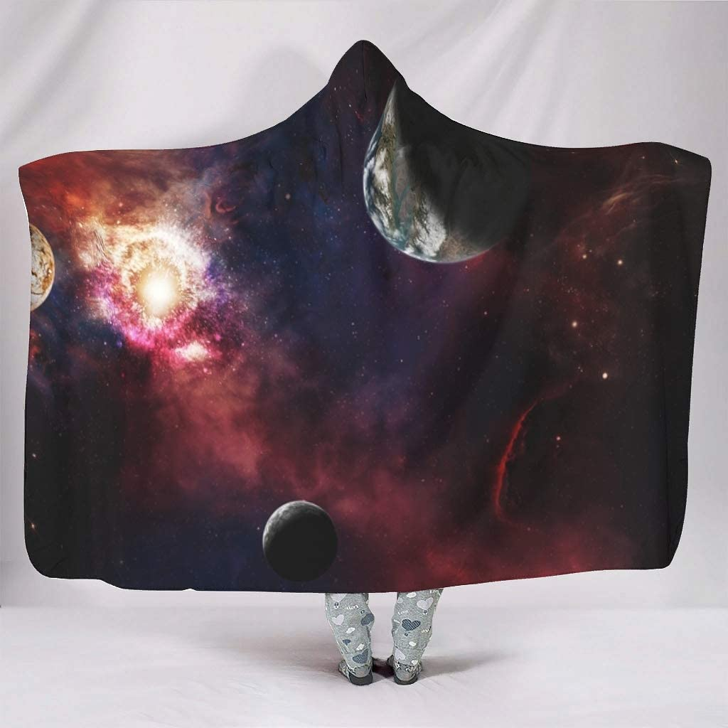 Loveyoudaily Hooded Blanket Planets and The Univer in Now free shipping Spaceships Baltimore Mall