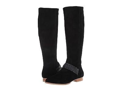 Jack Rogers Tinsley Suede Knee Boot (Black) Women