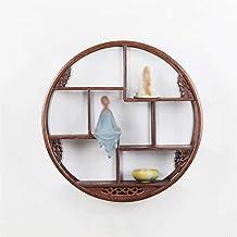Wall Shelf/Solid Wood Wall-mounted/Wall Shelves/Tea Room Decoration Frame/Tea Table Decoration Frame/Antique Frame/Living ...