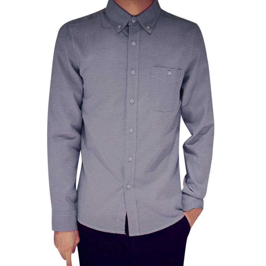 STRIR Camisa de manga larga Modelo Oxford para Hombre Caballero - Fiesta/Trabajo/Eventos importantes DJ2962 (Gris, XXXXL): Amazon.es: Hogar