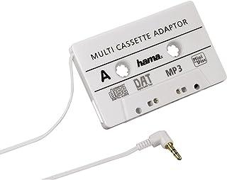 Hama KFZ-Kassettenadapter (Smartphones/MP3-/CD-Player/iPod/Tablets am Autoradio, Tape mit 3,5 mm Klinkenstecker) weiß