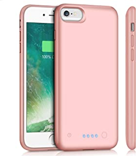 Battery Case for iPhone 6Plus/6s Plus/7Plus /8Plus, Upgraded 8500mAh Portable Charging Case Extended Battery Pack for iPhone 6s Plus/6 Plus/7 Plus /8 Plus Rechargeable Charger Case(5.5 inch)-Rose Gold