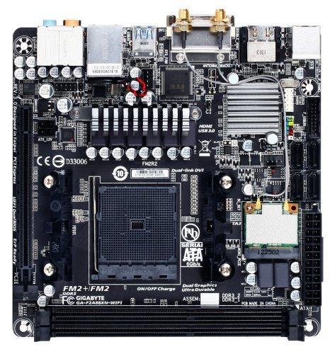 GIGABYTE gA-f2A88XN fM2–wIFI/fM2 a88X bolton d4) (wi-fi et bT4.0 sATA 6 gbit/s uSB 3.0 hDMI, mini-iTX carte mère aMD