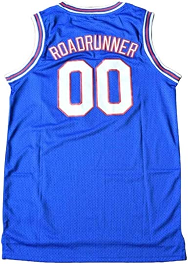 Roadrunner #00 Space Jam Tune Squad Basketball Jersey ADULT S M L XL 2XL