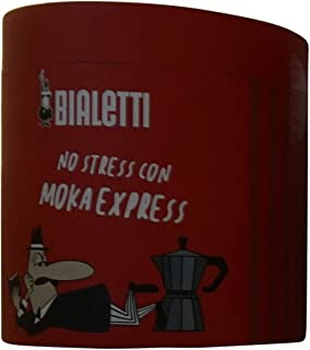 "Bialetti: Set Moka Express 2 Cups + 1""No Stress"" Paper Notebook in Red Box [ Italian Import ]"