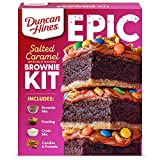 Contains one 32.16-ounce Duncan Hines Epic Baking Kit, Salted Caramel Brownie Mix Kit Each kit includes: fudge brownie mix, crust mix, caramel flavored frosting, salty pretzels, sweet candy and detailed directions on how to make a yummy dessert Makes...