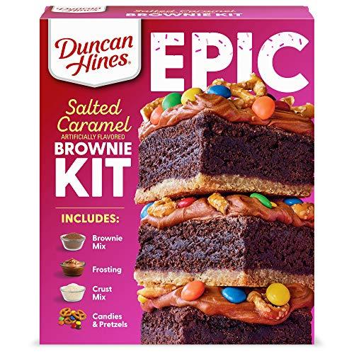 Duncan Hines Epic Kit, Salted Caramel Brownie Mix Kit, 32.16 oz.