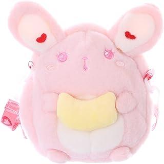 Kawaii-Story LB-7042 Rosa Hase Bunny Banane Niedlich Gesicht Plüsch Damen Tasche Lolita Pastel Goth