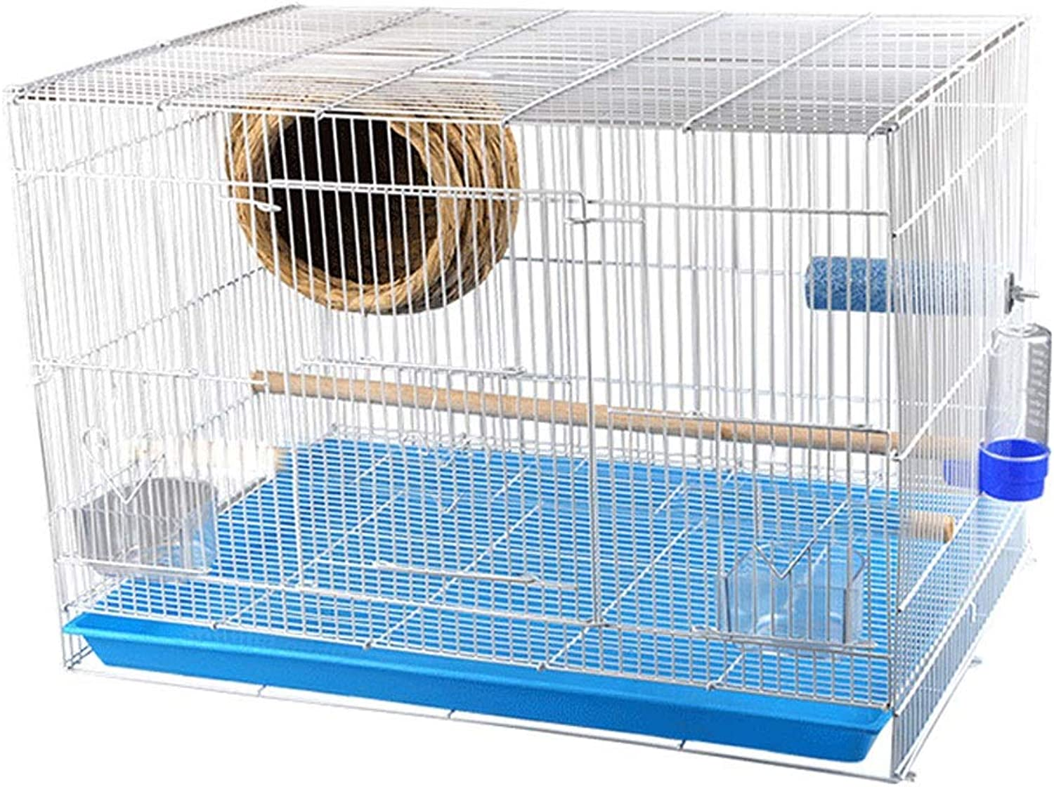 Birdcages Exquisite Small Bird Cage Wrought Iron Large Space Parred Thrush Pigeon Large With Bird Nest Bird Cage Bird nest