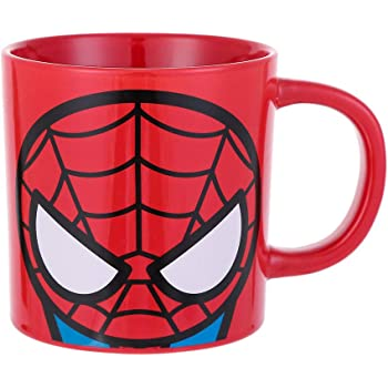 MINISO Marvel Ceramic Coffee Mug, 13oz Tea Cup for Office and Home - Spiderman