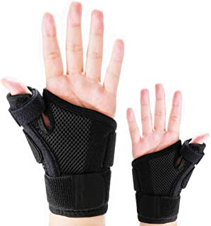 Thumb Splint with Wrist Support Brace-Thumb Brace for Carpal Tunnel or Tendonitis Pain Relief,Wrist Brace Fits Both Left a...