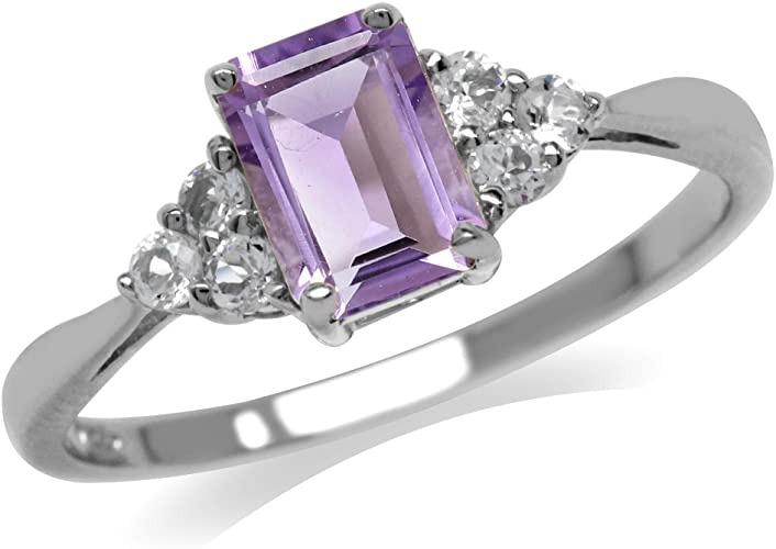 purple silver ring stone unique jewelry findings