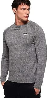 Men's Orange Label Cotton Crew Neck Sweater