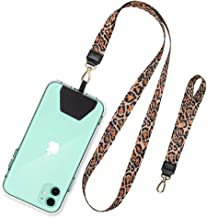 SHANSHUI Phone Strap, Universal Cell Phone Neck Lanyard Wrist Lanyard Tether Lasso for Smartphone Safety Tether System Key Chain Holder - Cheetah