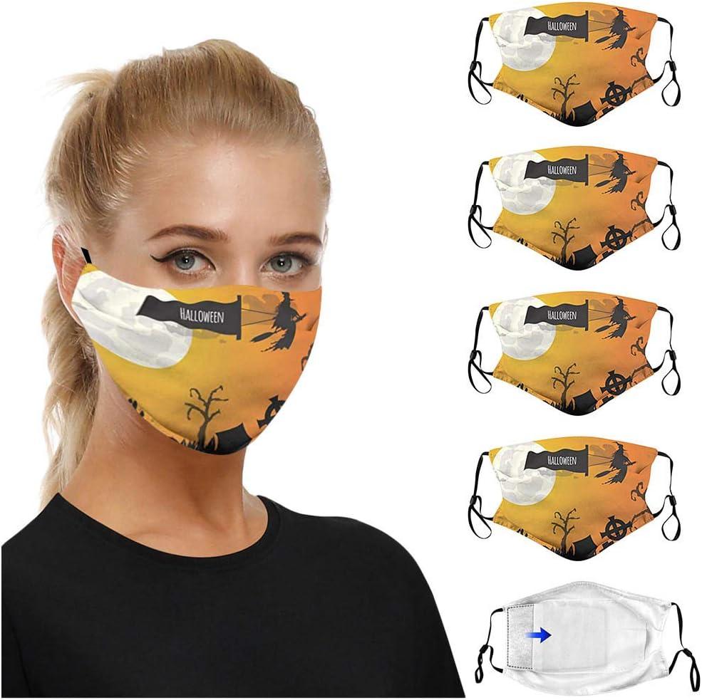 SOMESHINE Long-awaited 4PC Washable Reusable Save money Adult Elastic with Face_Masks E