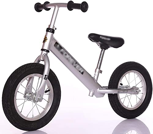 Draisiennes Vélo d'équilibre argenté Aucun vélo d'entraîneHommest de pédale pour Les Enfants, pneus en Alliage d'aluminium pour Cadre