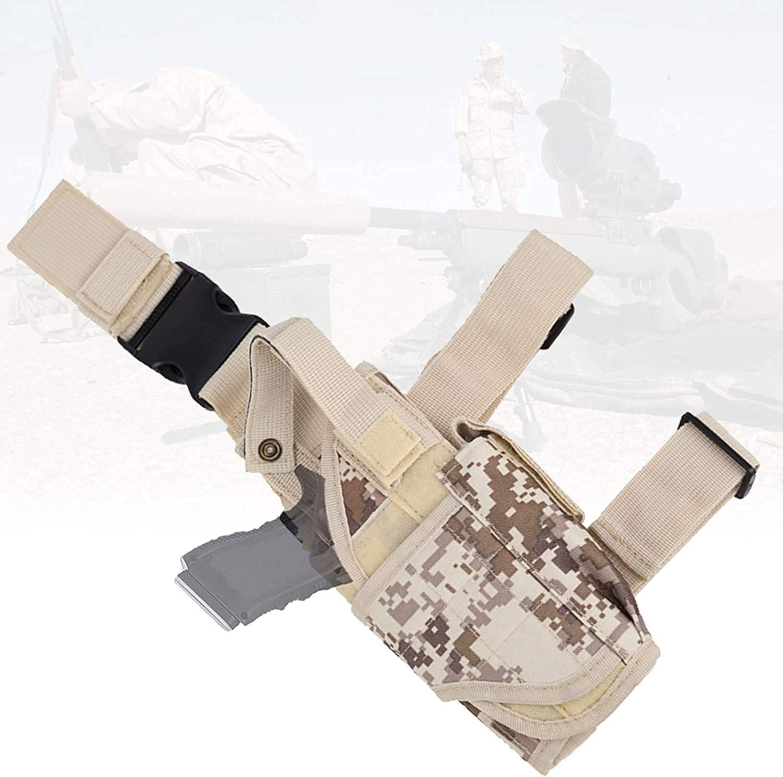 NYCUABT Pistola de la pistola, bolsa de caza con diseño impermeable, Ergonómico, Airsoft ajustable Airsoft Caza Pistola Pistola Funda, Bolsa de muslo para disparar Deportes, Entrenamiento de simulació