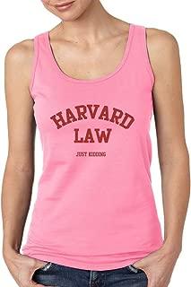 Harvard Law Just Kidding Women's Tank Top Funny College Tank Tops