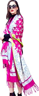 DANA XU Pure Wool Women Winter Large Scarf Pashmina Shawls and Wraps