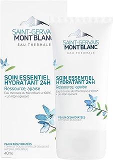 Saint-Gervais Mont blanc - Soin Visage Hydratant 24H pour Peaux Déshydratées/Sensibles/Normales à Sèches - 40 ml