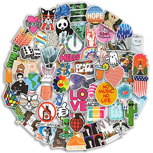 100/Pack Stickers Waterproof VSCO Stickers(100-500Pcs/Pack) - Aesthetic Stickers for Water Bottles,Laptop,Skateboards,Luggage,Travel Case- Cute Stickers Suitable for VSCO Girl,Teens,Adults