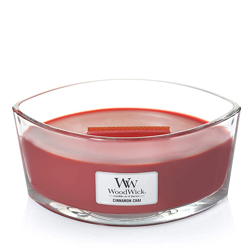 WoodWick 76104 Cinnamon Chai HearthWick Candle, Red by Woodwick