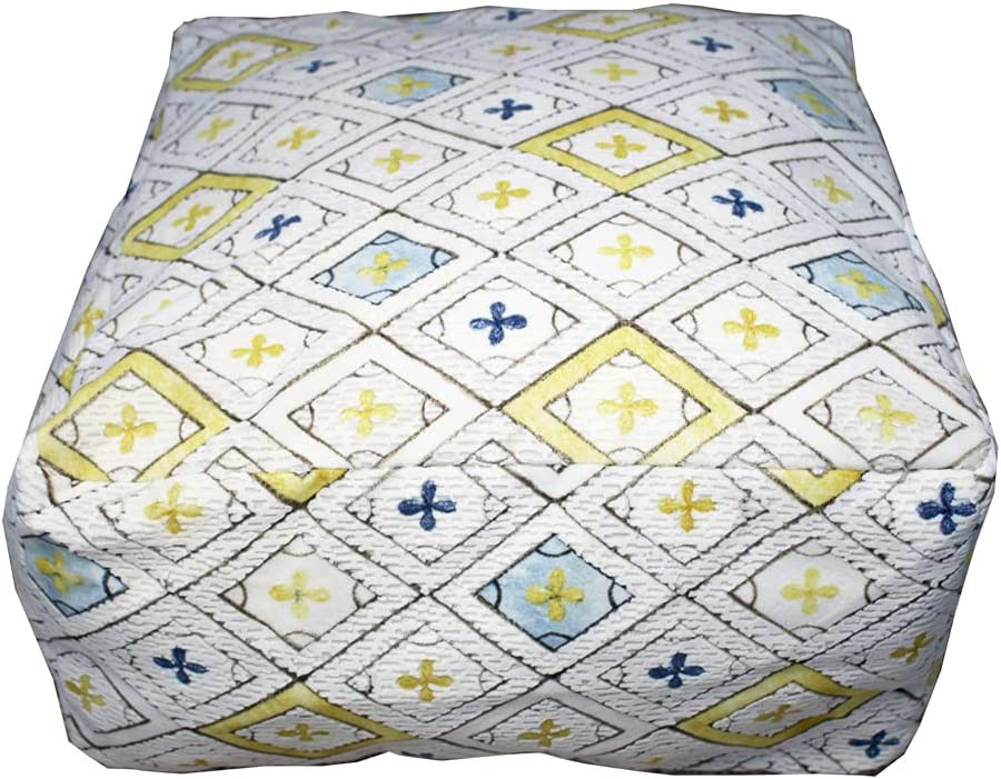 MOCOFO Bohemian Style 人気 おすすめ Printed Pouf Outdoor Room Living Bedroom 倉庫