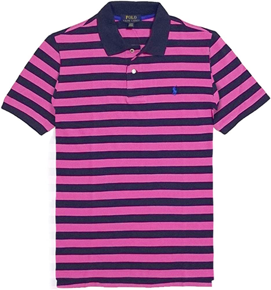 Ralph Lauren Boys Short Sleeve Striped Polo Shirt (XL 18-20) Roses