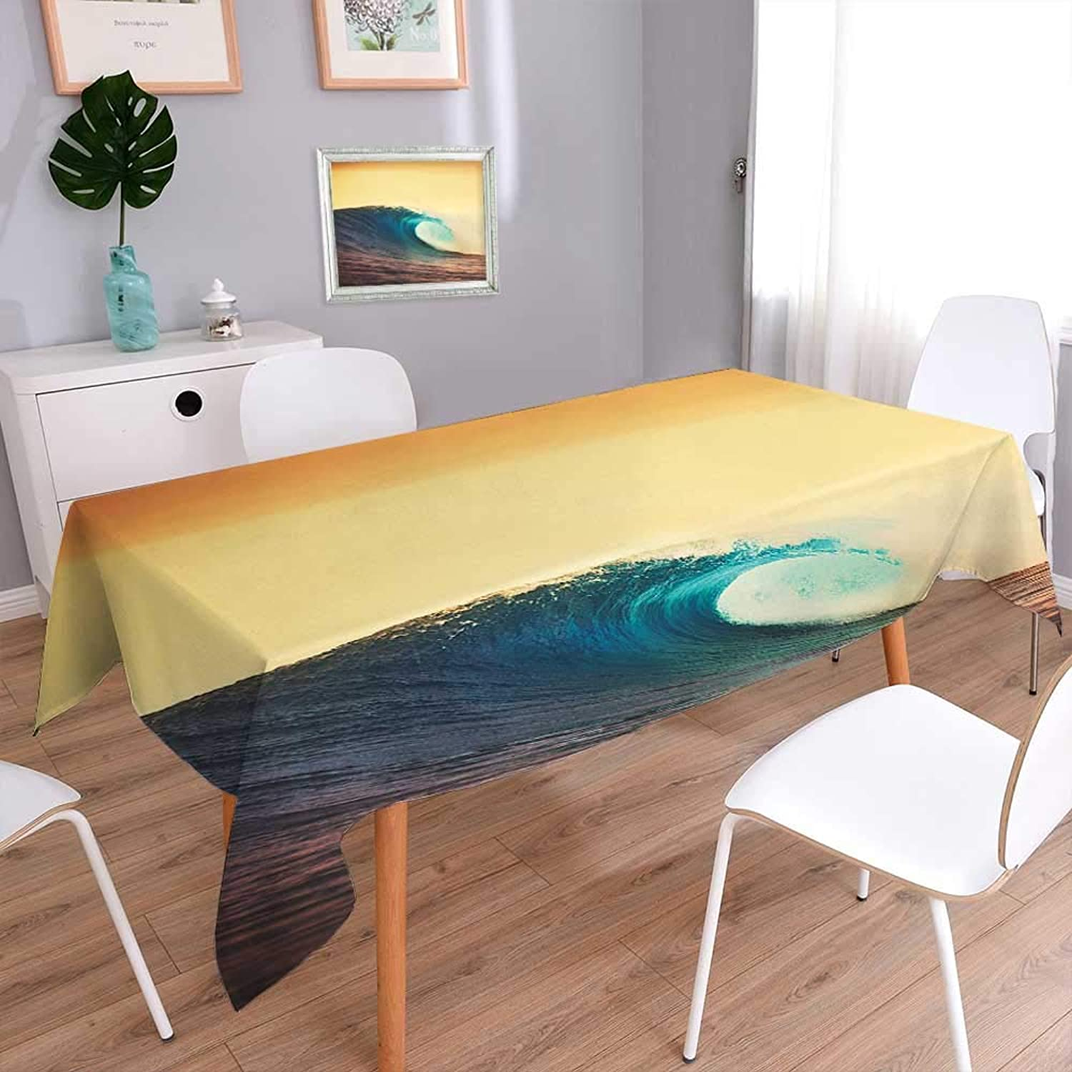 L-QN 100% Polyester, Eco-Friendly and Safe Paintworks Ocean Breaking Wave at Sunset in Warm colors Seacoast Seasonal Picture Art Multi colors & Sizes 70 x120