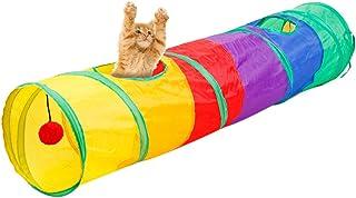 Lvcao 猫トンネル キャットトンネル 折り畳む 猫おもちゃ おもちゃ トンネル ねこ ペット 長いトンネル キャット 猫 ネコ ねこ 小动物 猫玩具 キャットおもちゃ 収納 115*25cm