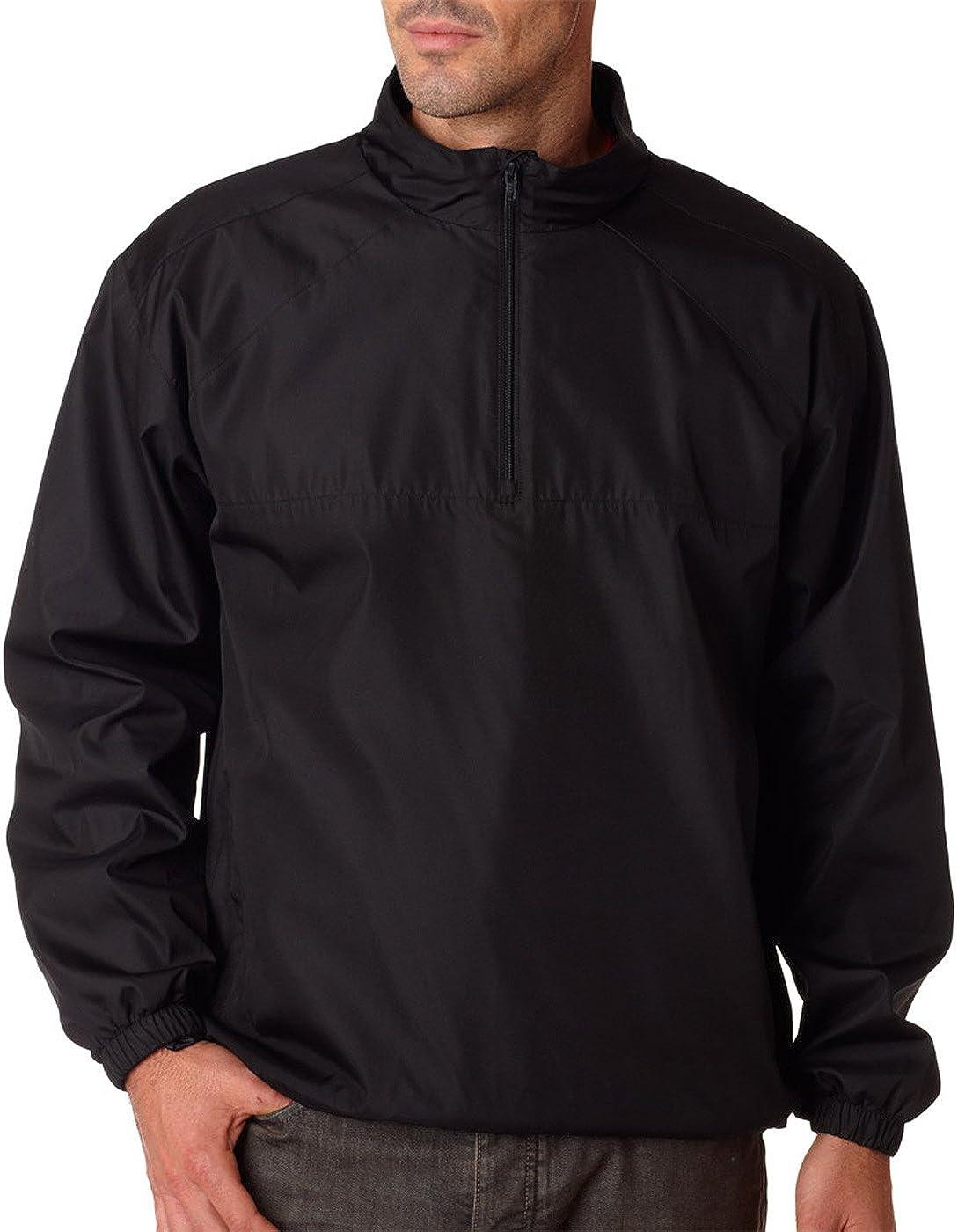 RETOV Men's Micro-Poly 2021new shipping free shipping Windshirt Black Large Over item handling ☆