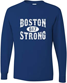 Go All Out Adult Boston Strong 617 Long Sleeve T-Shirt