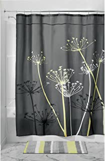 iDesign Thistle Fabric Shower Curtain for Master, Guest, Kids', College Dorm Bathroom, 72
