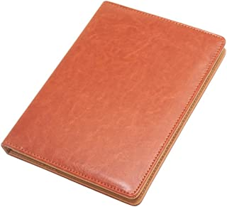 A5 File Folder,Business Document Holder,Folder with Clip,Document Board,Faux Leather Made/Brown,A5 9.37 x 7.00'',Harphia