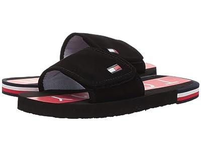 Tommy Hilfiger Kids Niko Slide (Little Kid/Big Kid) (Black/Red) Kids Shoes