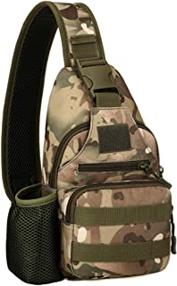 Lixada Chest Bag with USB Sling Outdoor Military Shoulder Bag Camouflage Nylon Bike Cycling Travel Riding Water Bottle Bags